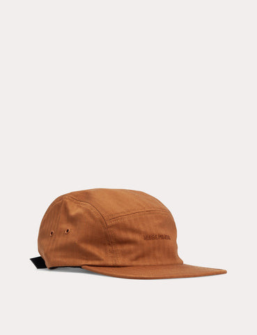 Norse Projects Herringbone 5 Panel Cap - Russet