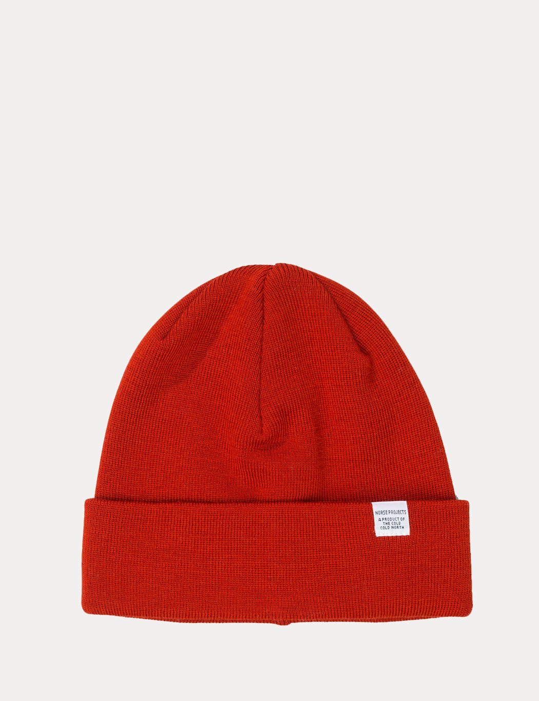 Norse Projects Top Beanie Hat - Oxide Orange