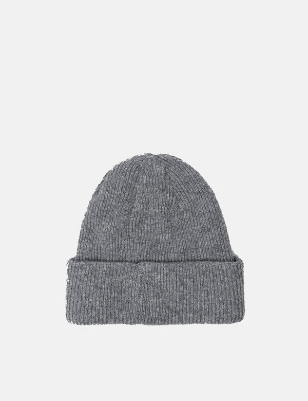 Norse Projects Beanie Hat Brushed (Wool) - Light Grey Melange