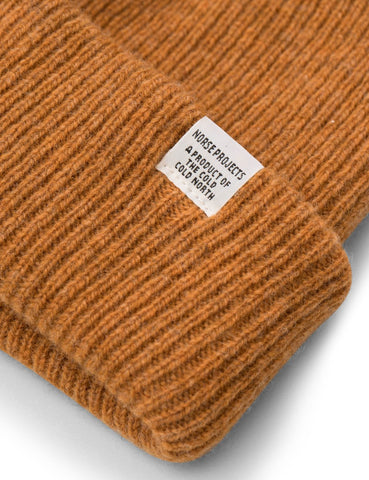 Norse Projects Norse Beanie Hat - Mustard Yellow