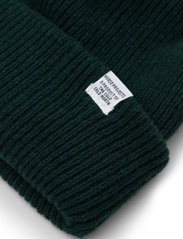 Norse Projects Norse Beanie Hat - Quartz Green