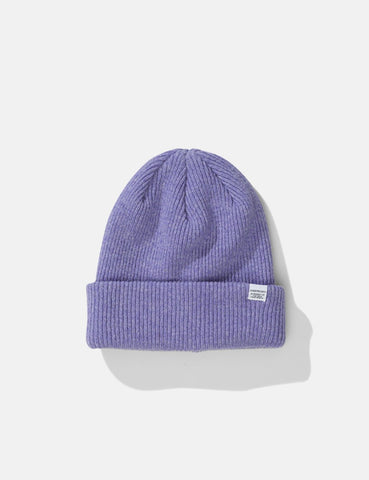 Norse Projects Norse Beanie Hat - Heather Purple