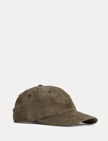 Norse Projects Fake Suede Sports Cap - Dried Olive Green
