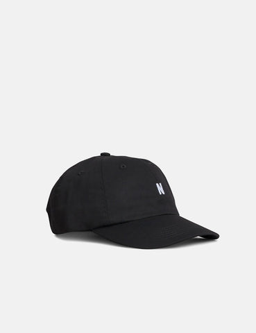 Norse Projects Light Twill Sports Cap - Black