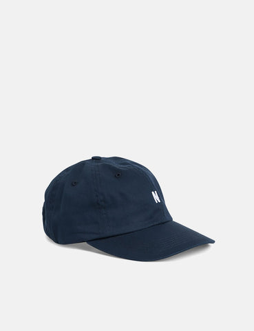 Norse Projects Light Twill Sports Cap - Navy Blue