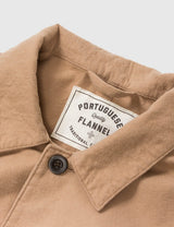 Portuguese Flannel Pinheiro Workwear Denim Jacket - Cream