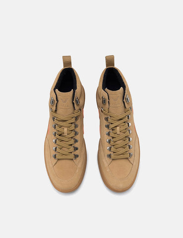Veja Roraima Bastille Suede Trainers - Desert/Orange/Natural