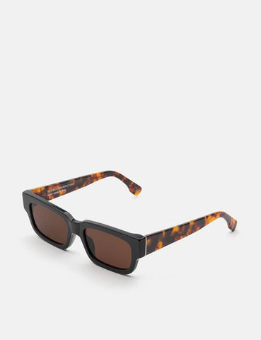 RetroSuperFuture Roma Black Mark Sunglasses - Black/Havana