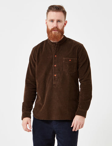 Human Scales Olof Cord Shirt - Green