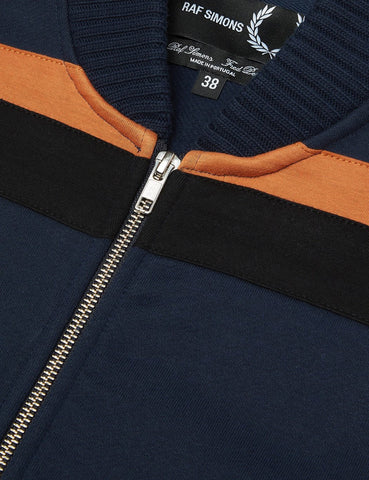 Fred Perry x Raf Simons Sweat Bomber Jacket - Dark Navy
