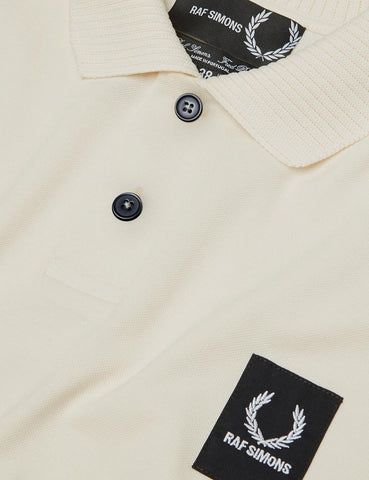 Fred Perry x Raf Simons Short Sleeve Rib Pique Shirt - Ecru