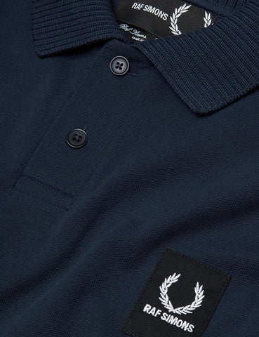 Fred Perry x Raf Simons Short Sleeve Rib Pique Shirt - Dark Navy