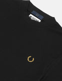 Fred Perry x Miles Turtleneck Pique T-Shirt - Black