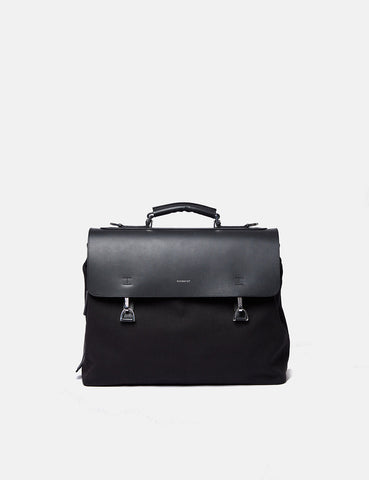 Sandqvist Jones Doctors Bag (Organic Cotton/Leather) - Black