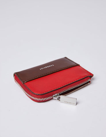 Sandqvist Eben Wallet (Leather) - Red