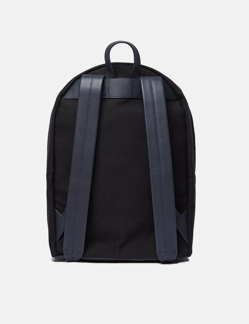 Sandqvist Ingvar Backpack - Black/Navy Blue