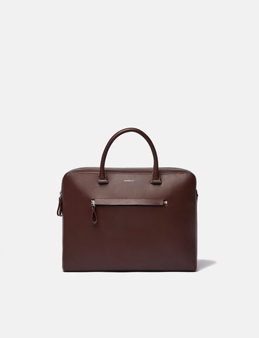 Sandqvist Lesli Briefcase (Leather) - Dark Brown