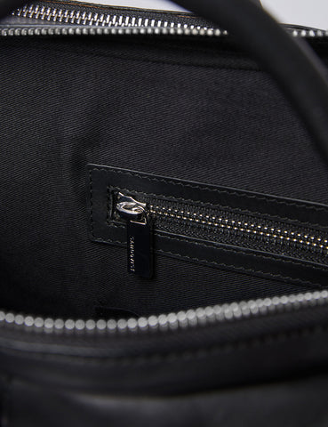 Sandqvist Melker Briefcase (Leather)- Black