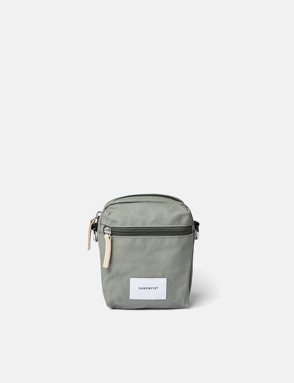 Sandqvist Sixten Backpack - Dusty Green/Natural Leather