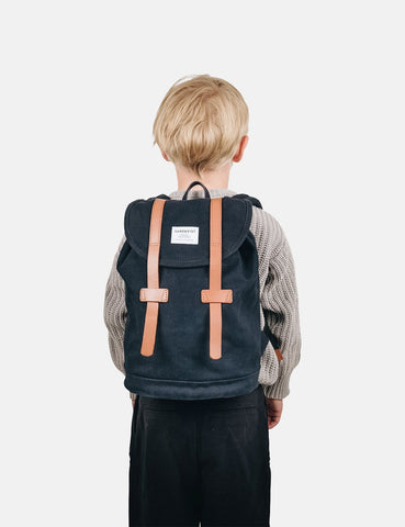 Sandqvist Stig Mini Backpack (Canvas) - Blue