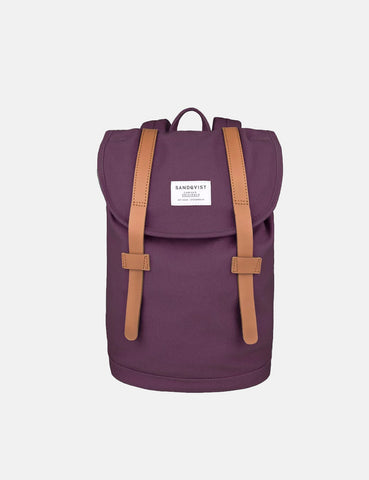 Sandqvist Stig Mini Backpack (Canvas) - Plum/Plum