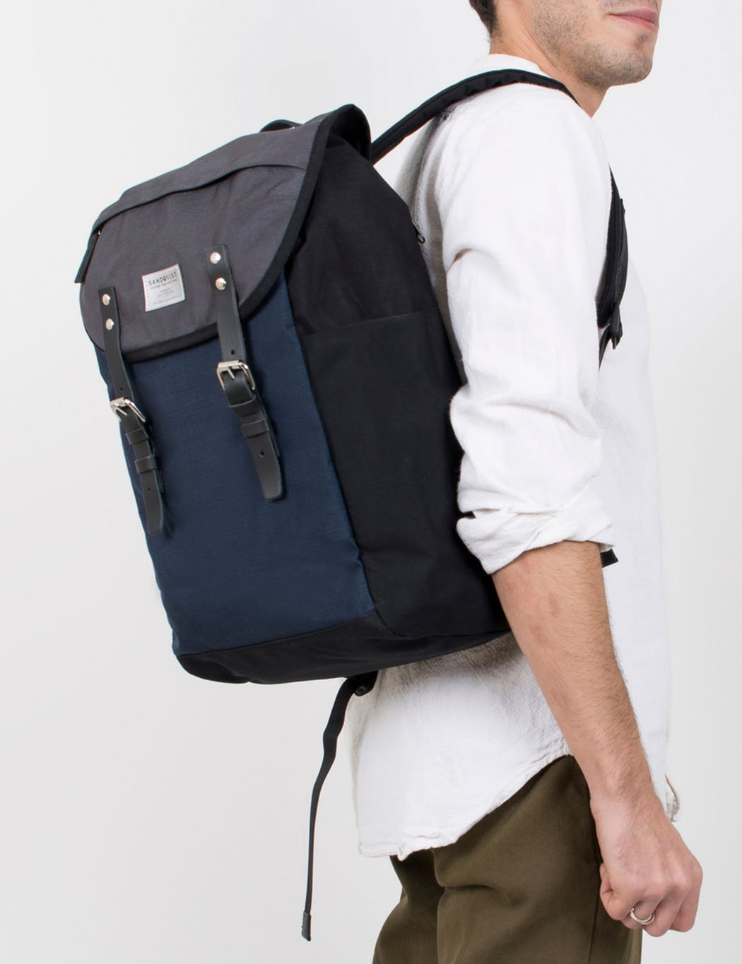 Sandqvist Hans Backpack (Cordura) - Navy Blue/Multi