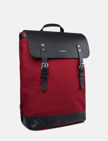 Sandqvist Hege Backpack (Canvas) - Burgandy
