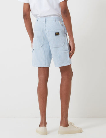 Stan Ray Painter Shorts (Stripe) - Bleached Hickory