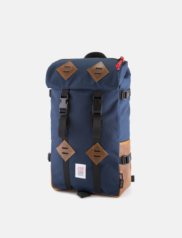 Topo Designs Klettersack Bag (Brown Leather) - Navy Blue
