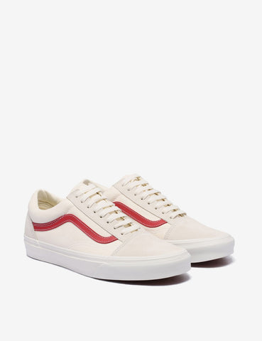 Vans Old Skool (Suede) - Vintage White/Rococco Red