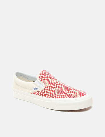 Vans Classic Slip-On 98 DX (Canvas) - Anaheim Factory OG Red/White/Warp Check