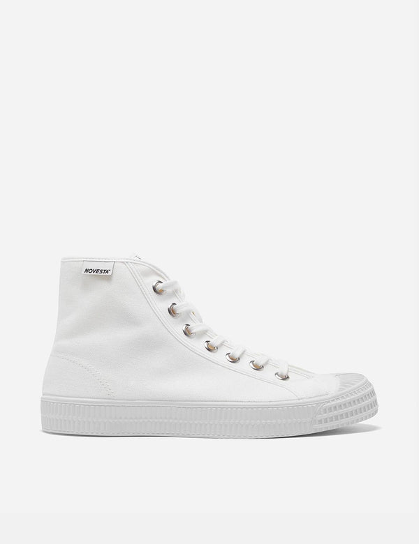 Novesta Star Dribble Hi Trainers (Canvas) - White