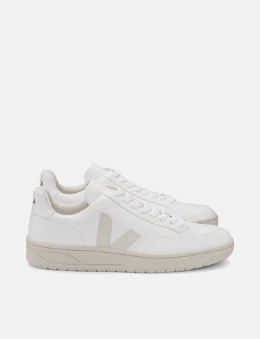 Veja V-12 Leather Trainers - Extra White/Pierre