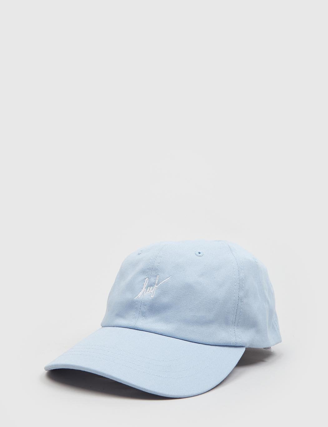 8406127f05a HUF Script Curved Peak Cap in Light Blue