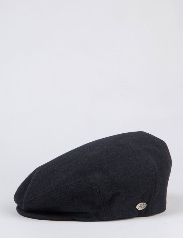 Bailey Lord Solid Ivy Flat Cap - Black