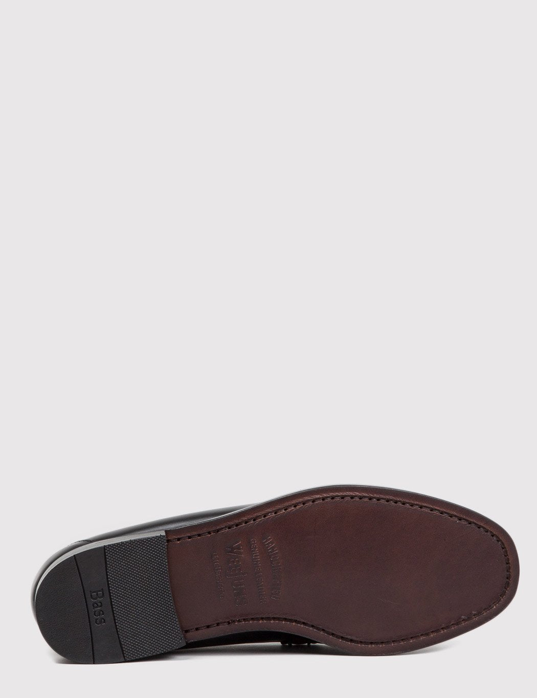 Bass Weejun Larson Penny Loafers - Black Leather