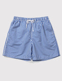 Boardies Stripes Drawstring Swim Shorts - Navy/White