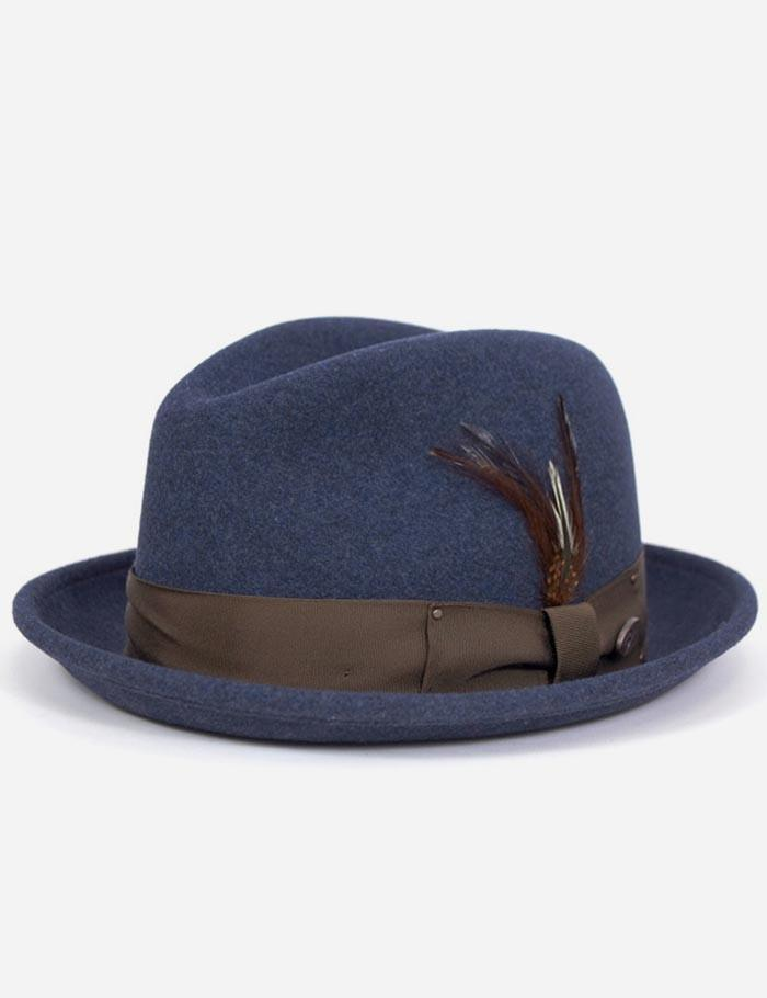 becb07a46e319 Bailey Tino Felt Crushable Trilby Hat - Denim – URBAN EXCESS USA