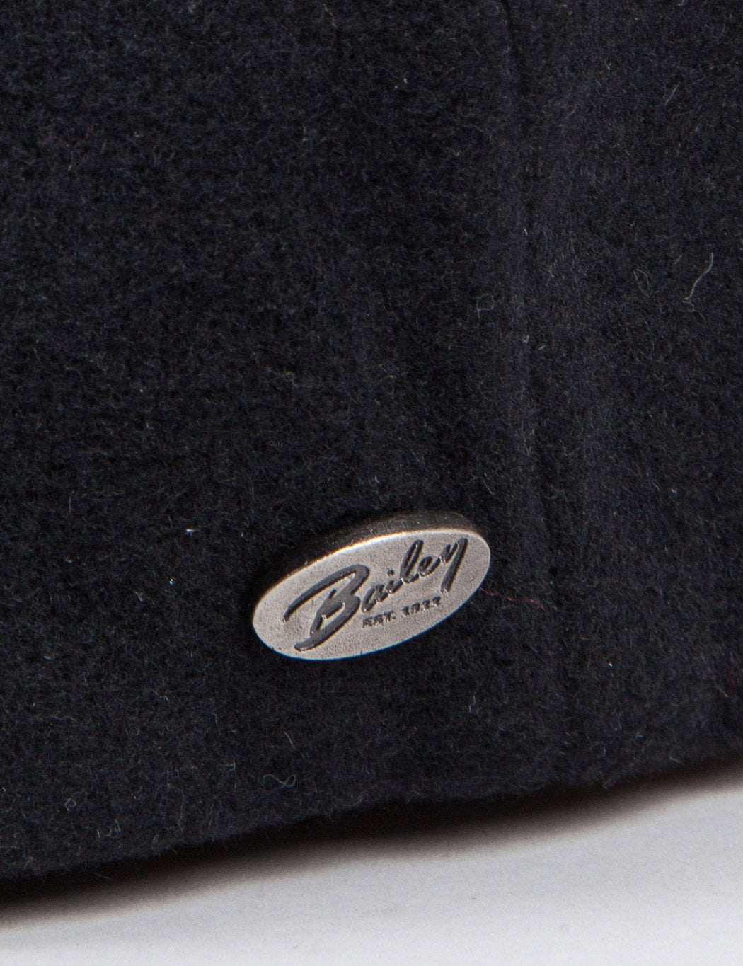 Bailey Galvin Wool Newsboy Cap - Black