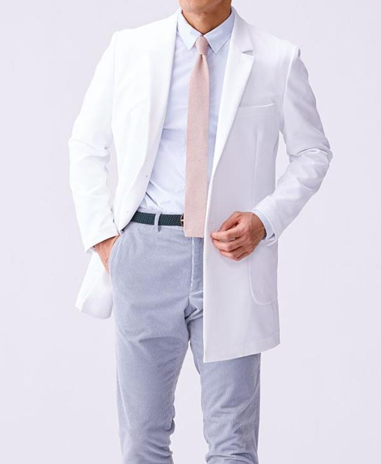 Classico Men`s Urban Short Coat White Medical > Lab coats > White Coat > Urban Short Coat > Men`s- Classico