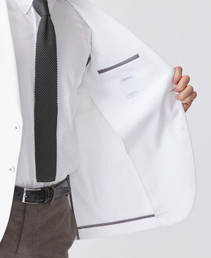 Classico Men`s Jersey Jacket, LUXE White Medical > Lab coats > White Coat > Classico Jacket > Mens- Classico