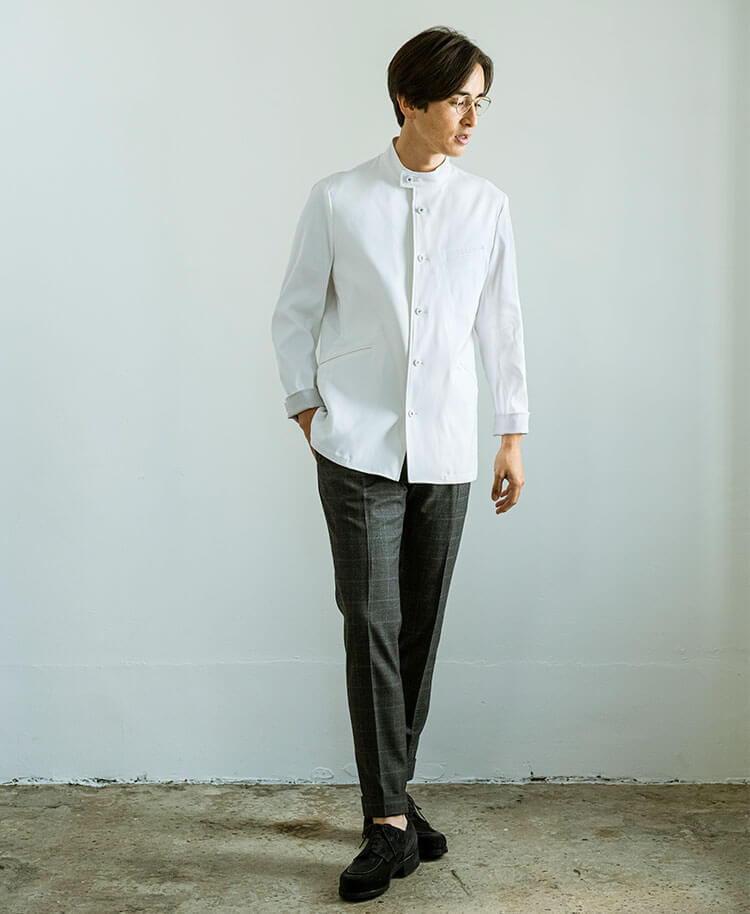 Men's Lab Coat: Light Casey Jacket
