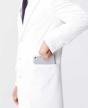 Classico Men's JERSEY LAB COAT LUXE White Medical > Lab coats > White Coat > Mens- Classico
