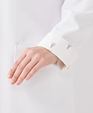 Classico&Gelato Pique Tailored Lab Coat