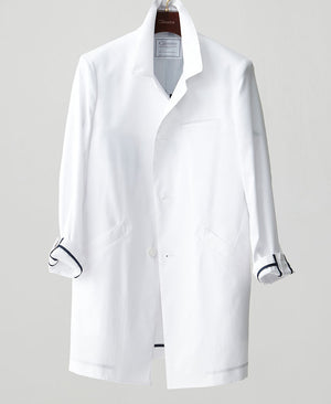 Classico Men`s Balmacaan Coat White Medical > Lab coats > White Coat > Balmacaan lab Coats > Mens- Classico
