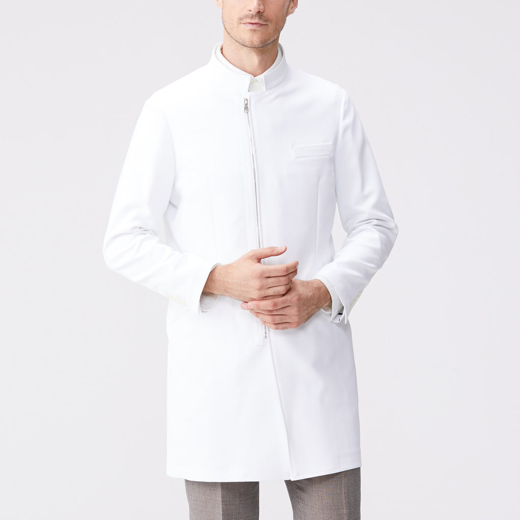 Classico Men`s Urban Zip Coat White Medical > Lab coats > White Coat > Urban Zip Coat > Mens- Classico