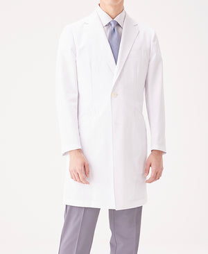 Classico Men`s Crafted Lab Coat White