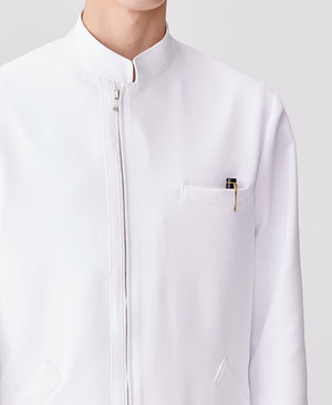 Men's Lab Coat: Urban Zip Coat