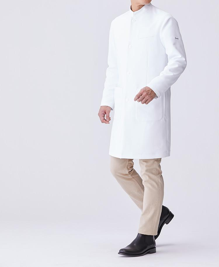 Urban Standing Collar Coat Men's Lab Coat- Classico