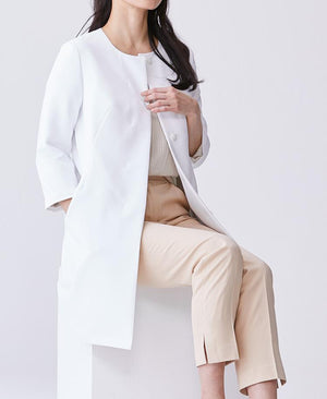 Women's Collarless Urban Coat Women's Lab Coat- Classico
